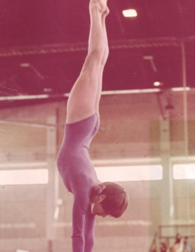 Susan Cheesebrough as a young gymnast