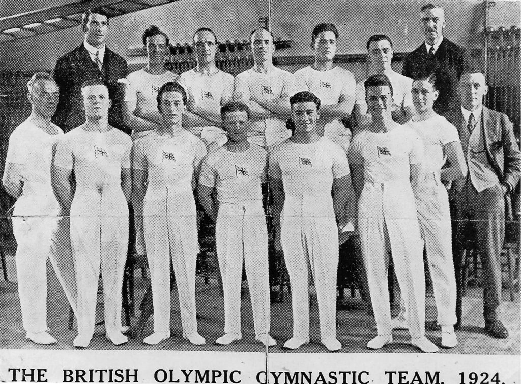 1924 Men's team left JJ Cook coach extreme right Charles West Leigh brothers Ernest & Stanley centre front.