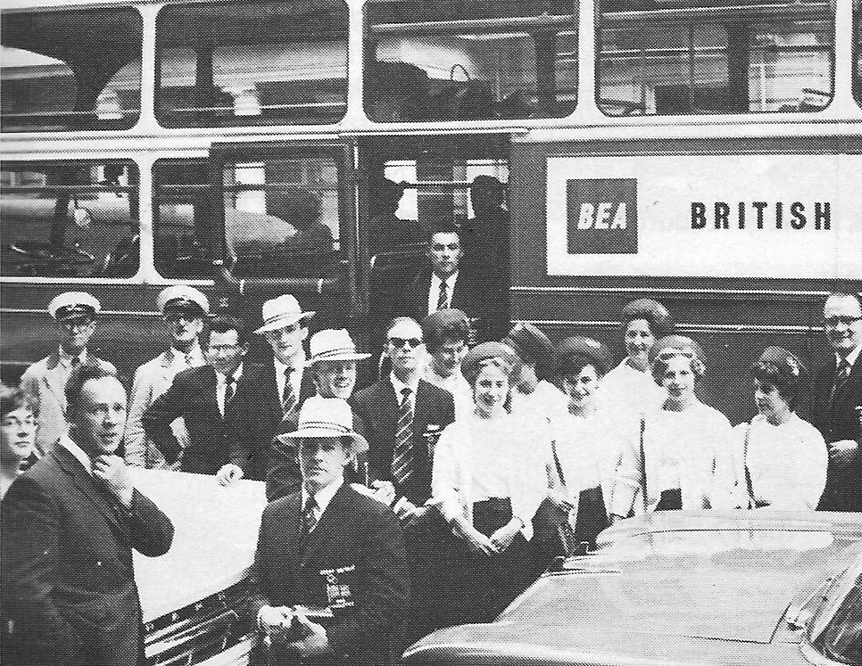 British 1960 Men's & Women's Olympic teams on their way.