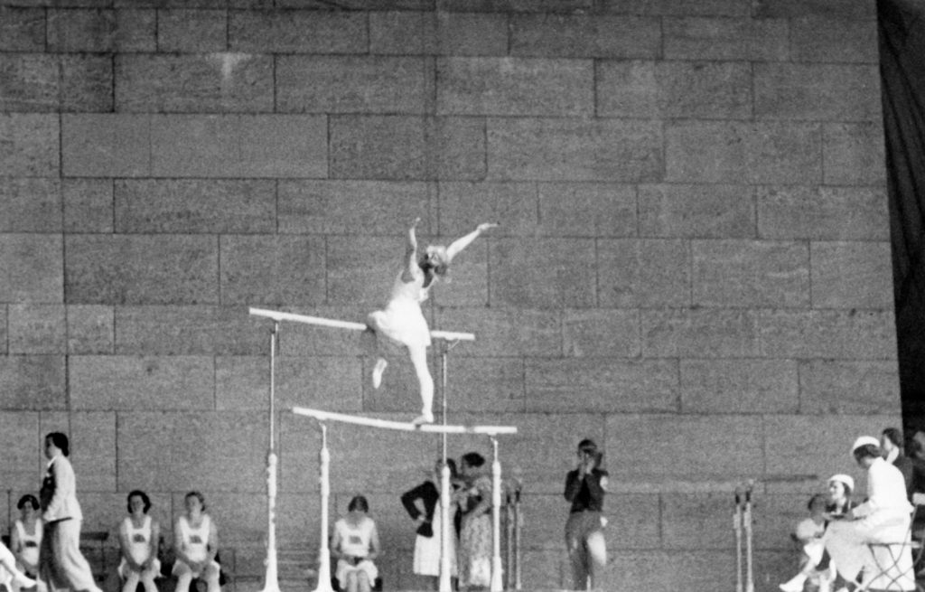 Edna Earl at the 1936 Olympics. Edna was part of the British team