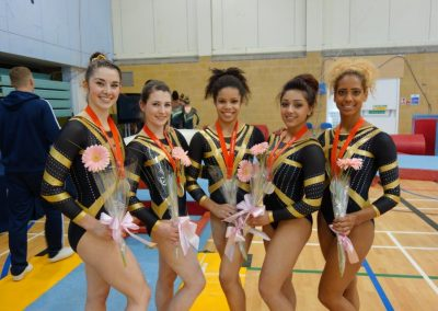 Heathrow British gymnastics Women's team champions