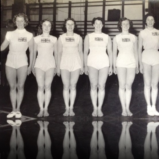 British Women's Gymnastics Team 1956