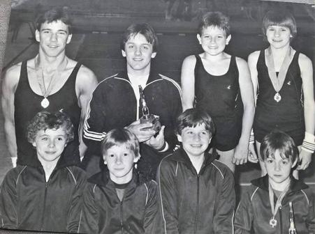 Craig as a young gymnast