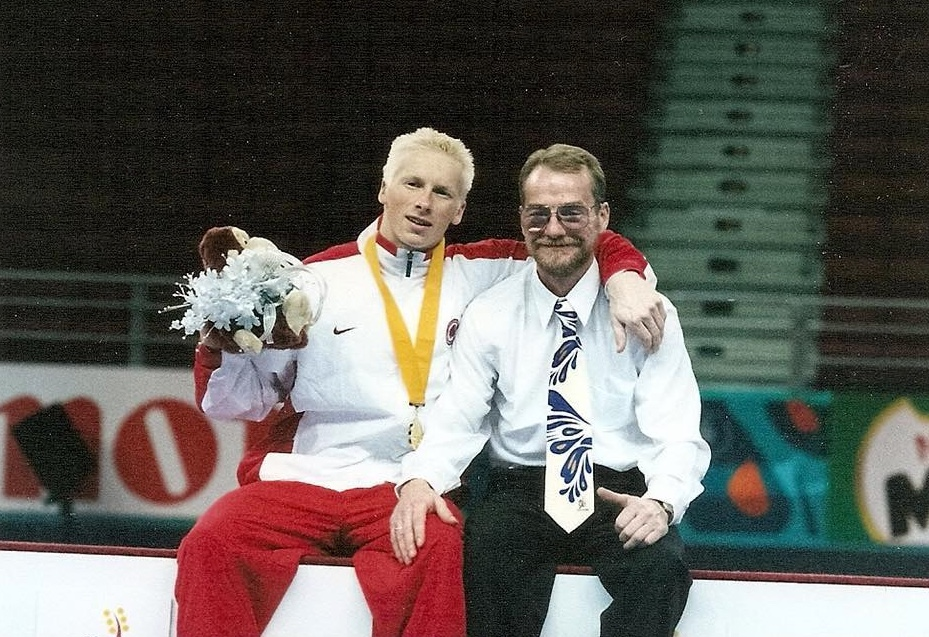 Craig with Mike Redmond in 1998 at the Commonwealth Games