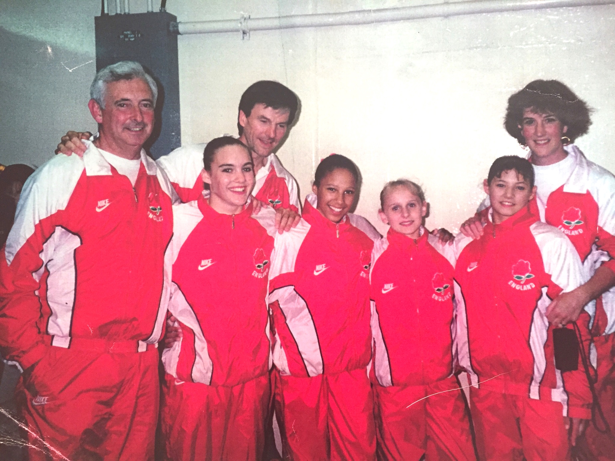 Zita Lusack with the England Gymnastics Team