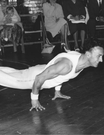 Frank Turner gymnast performing a planche