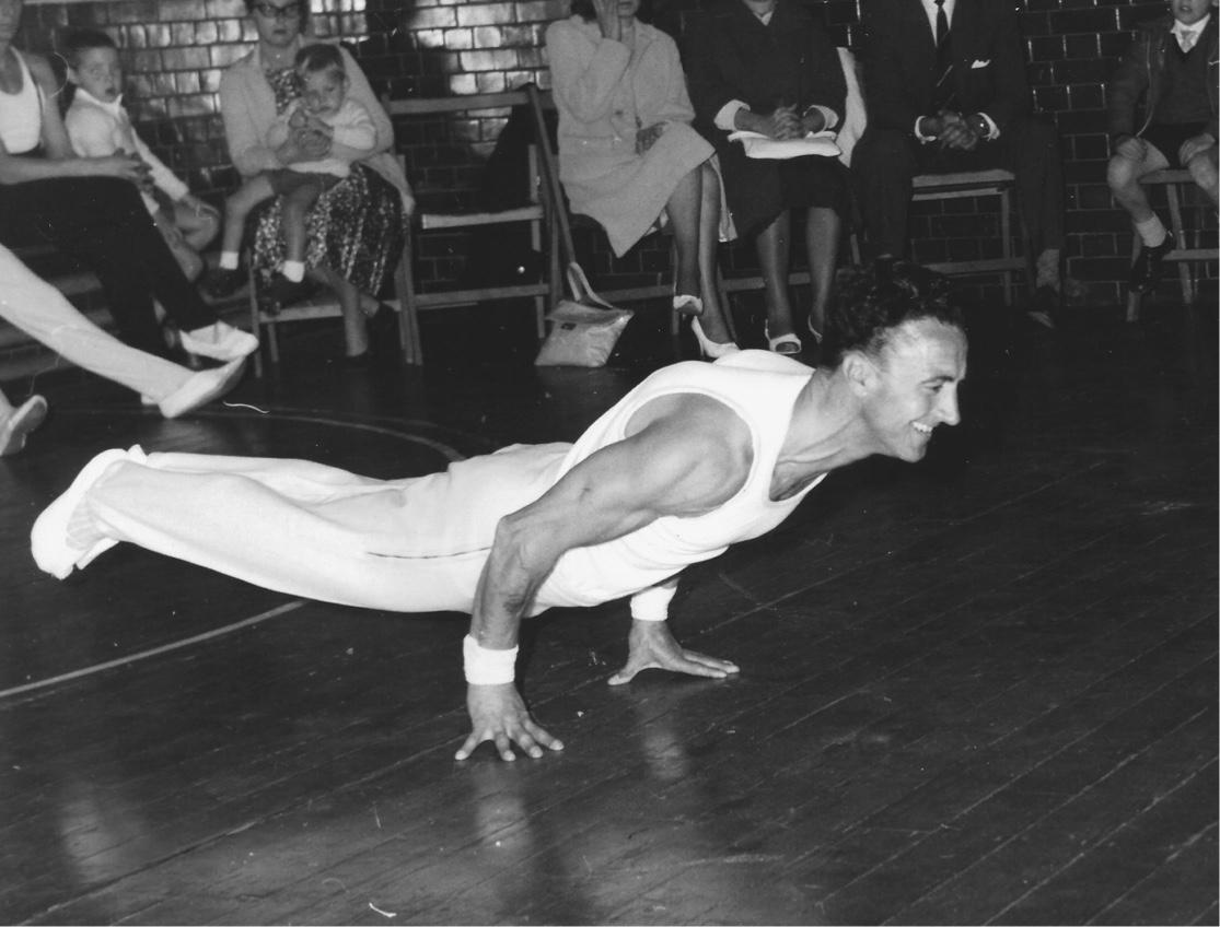 Frank Turner gymnast performing on the Floor