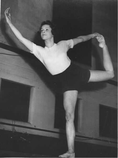 Joan Airey, a London gymnast had to train in an old brewery where the beam was balanced on a beer barrel at one end.