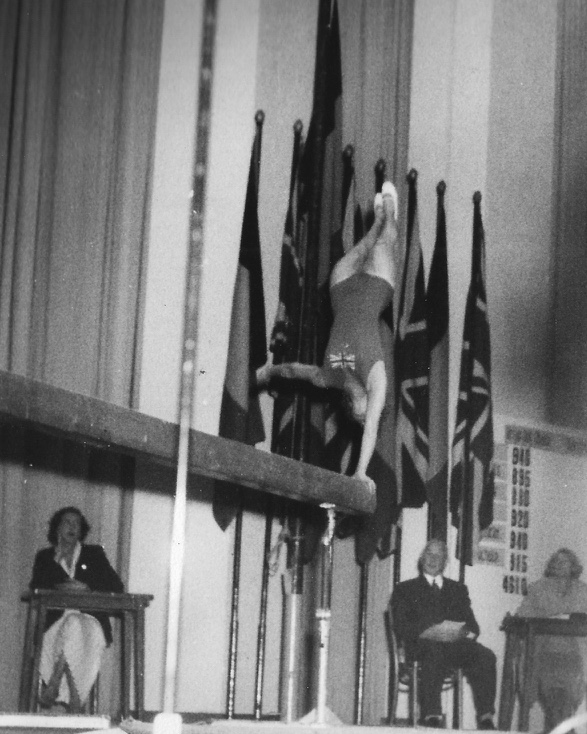 Pat Hirst competing for GB Vs Belgium 1956 or 57