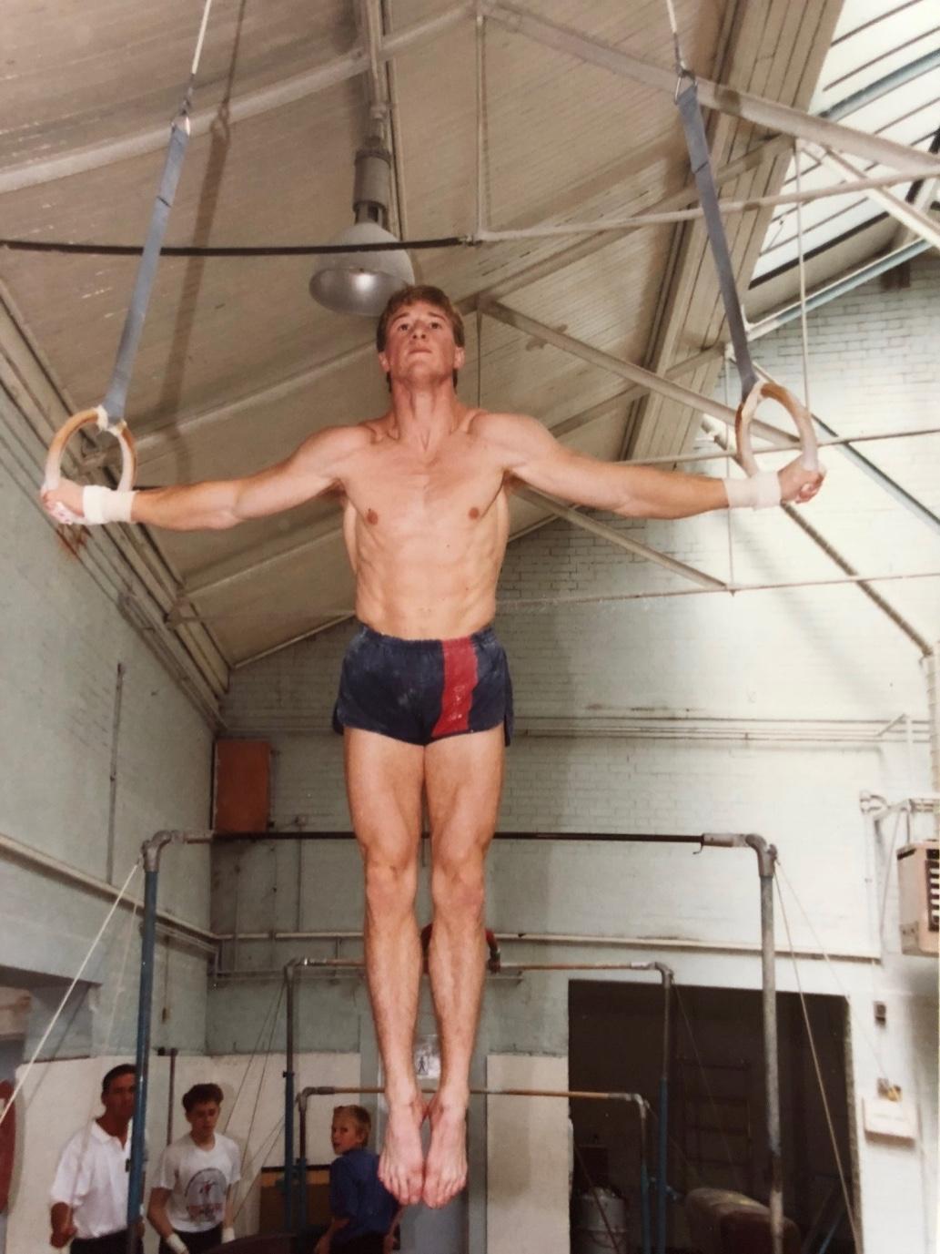 Paul Bowler training on Rings