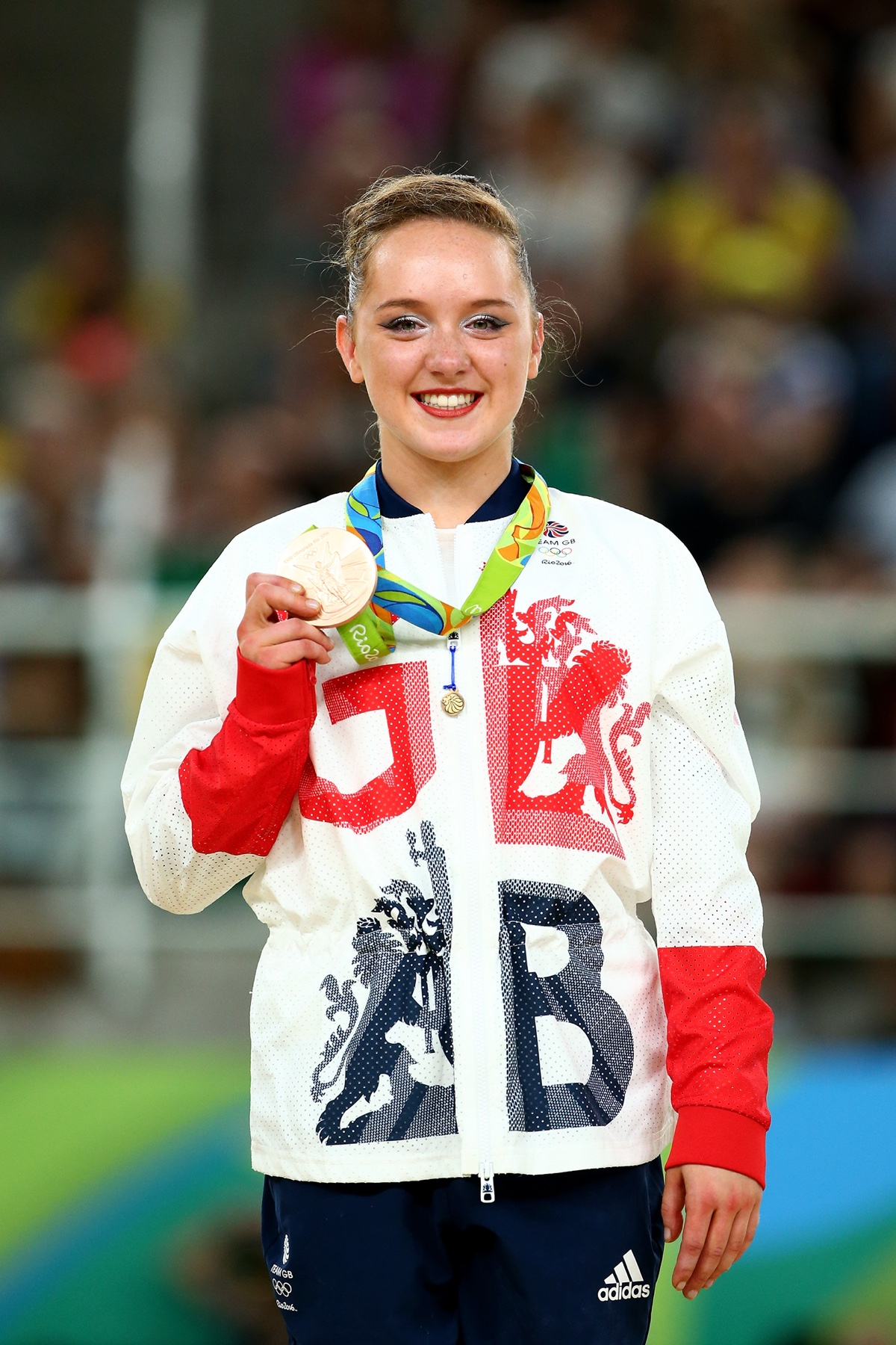Amy Tinkler winning historical floor medal for Team GB at the Rio 2016 Olympic Games