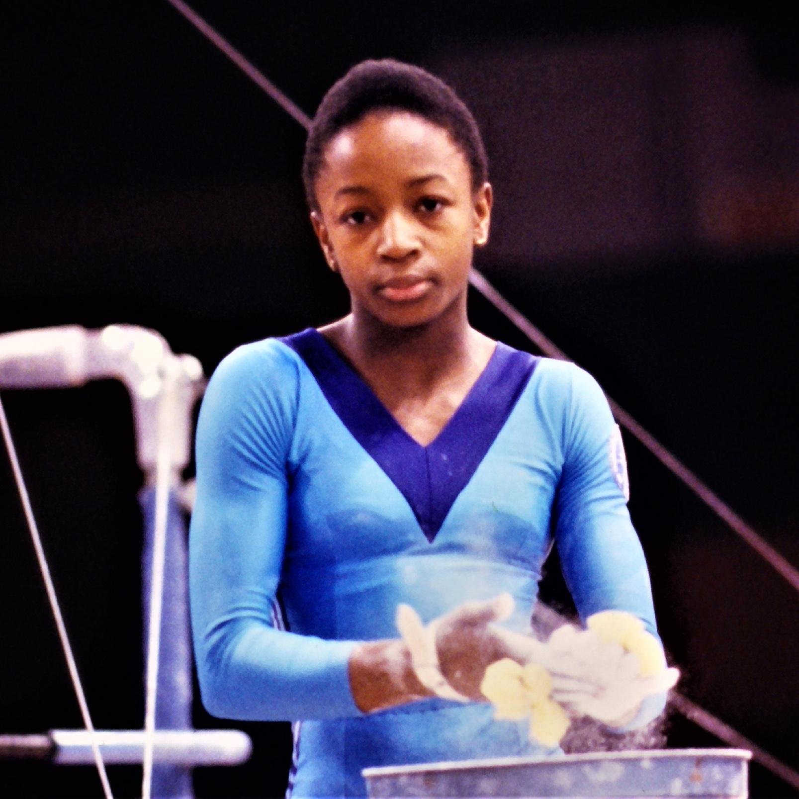 Kathy Williams GB V Canada in 1979 - Alan Burrows
