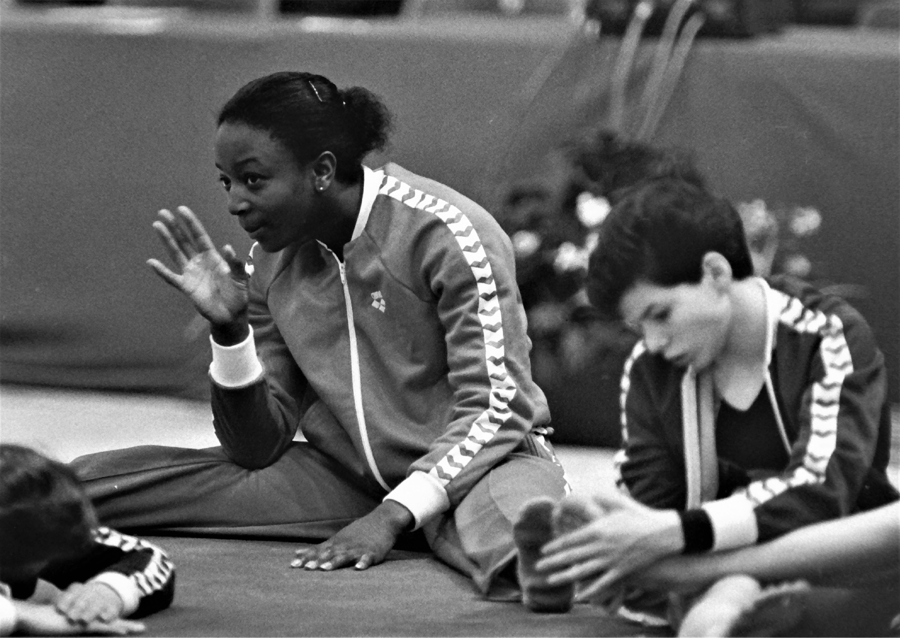 Williams Kathy warming up at the British Championships in 1986 - photo by Alan Burrows