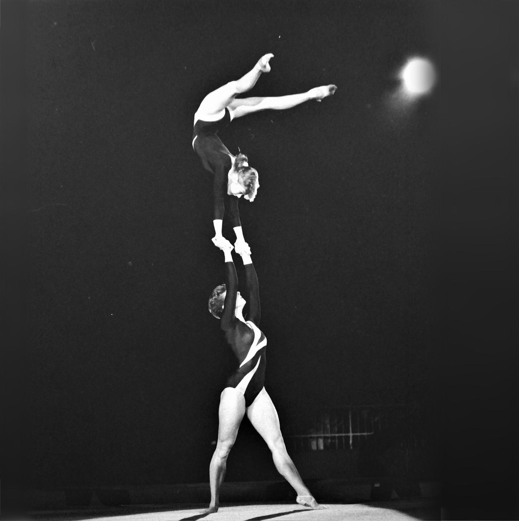 Women's Pairs Acrobatics Tout & Boultwood at SPORT AID 1986